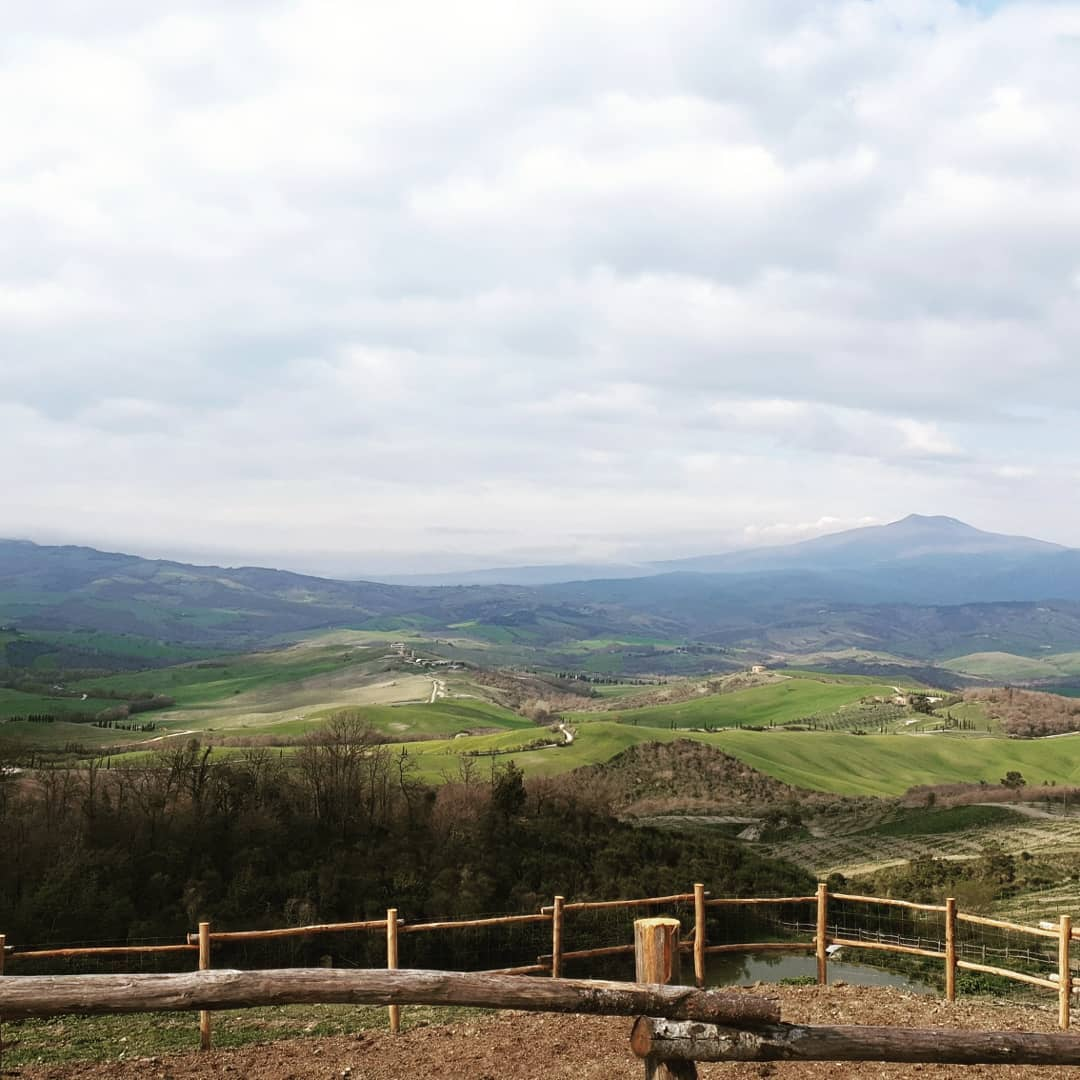 panorama colline val d'orcia