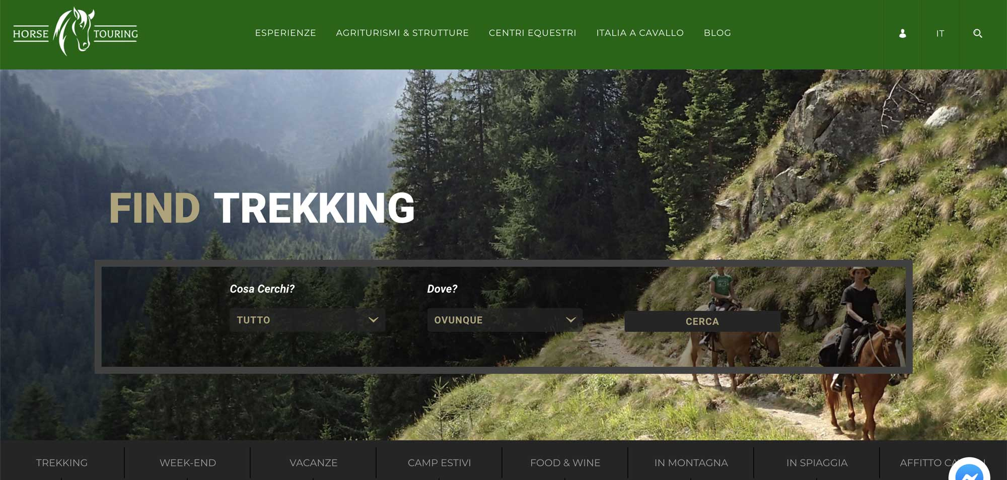 home page horse touring